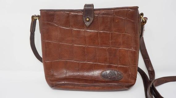 Vintage MULBERRY Bag, Crocodile Embossed Leather B