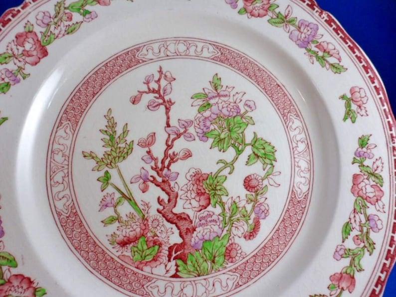 Midwinter Ltd Staffordshire England Red Transferware -10-18 W.R India Tree Dinner Plate
