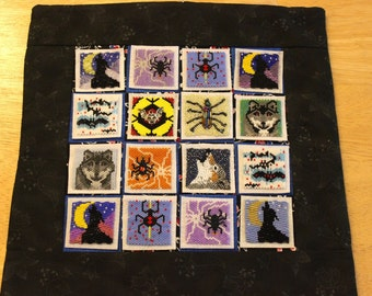 Bead-It-Forward Animal Themed Quilt Wolves Spiders and Bats BIF109