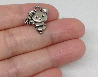 10pcs Koala Baby Charm, Animal Charm, Koala Bear Charm