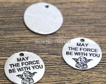 50pcs Star Wars Yoda Charms May The Force Be With You