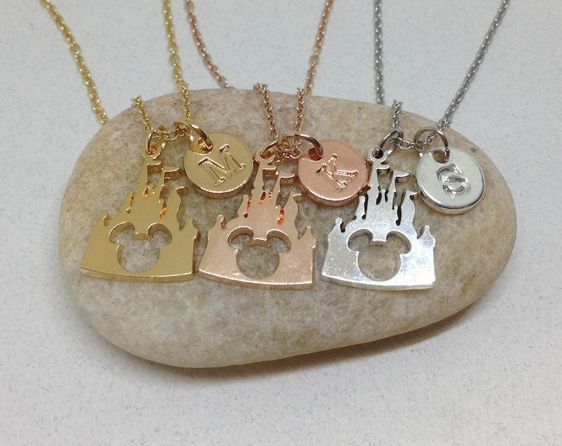 22 Disney Gifts for Mom featured by top US Disney blogger, Marcie and the Mouse: Mickey Necklace Castle Necklace Disney Necklace image 0