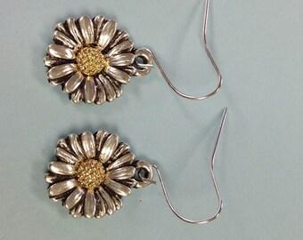 Sunflower earrings, Daisy Earrings, Flower Earrings