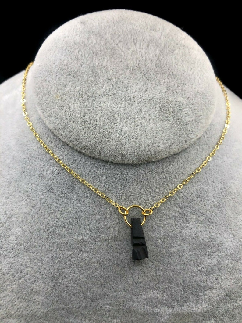 New! Pure Real Azabache Spanish Necklace With Azteca T\u00f3tem