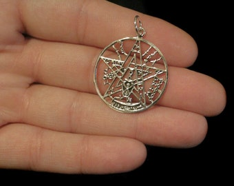 Tetragramaton Symbol Sterling Silver Real. 30MM. New!