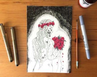 Till death do Us part-original illustration-Inktober 2017, Day 30