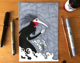 Pest Doctor-Original illustration-Inktober, Day 09
