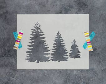 Pine Trees Stencil - Reusable DIY Craft Tree Stencils Perfect for Creating  Rustic Farmhouse Wall Decor - Small   Large Sizes Available 8a697e7aaa