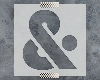 Custom Monogram wedding stencil with your names ampersand birds names wedding stencil wedding monogram stencil