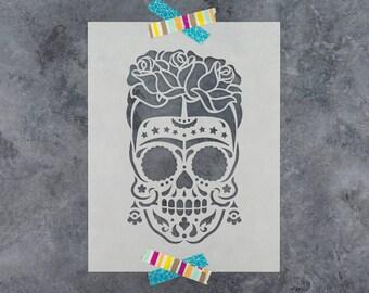 Sugar Skull Stencil Etsy