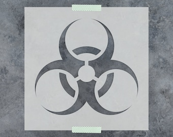 Biohazard custom stencil for DIY craft reusable stencils plaster stencil textile painting airbush furniture crafts 20 mil plastic