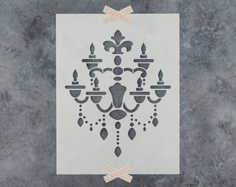 Chandelier stencil etsy popular items for chandelier stencil aloadofball Image collections