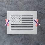 American Flag Stencil - Reusable DIY Craft Stencils of the American Flag