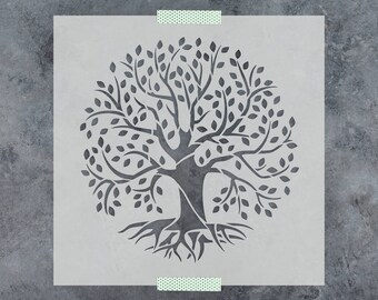 greeting card  reusable hearts  life tree stencil sheet 4 designs for wall