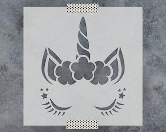 unicorn stencil etsy