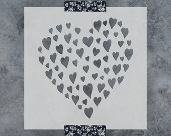 Reusable Stencils for Painting Heart of Hearts Love Valentine Stencil Create DIY Heart of Hearts Love Valentine Home Decor