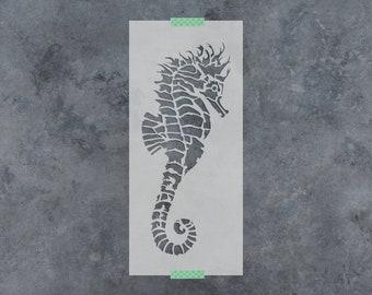 Fancy Seahorse Stencil - Reusable DIY Craft Stencils of a Fancy Seahorse