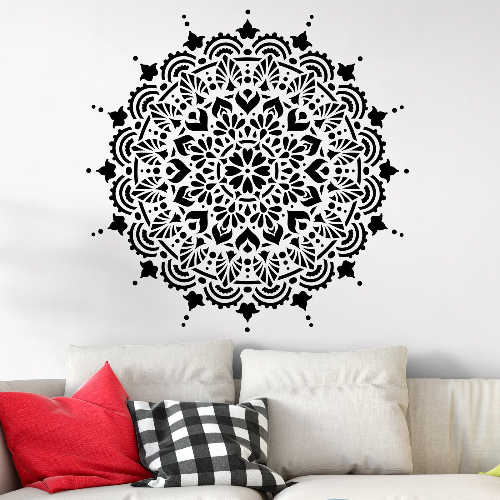 harmony mandala stencil template reusable stencil for painting