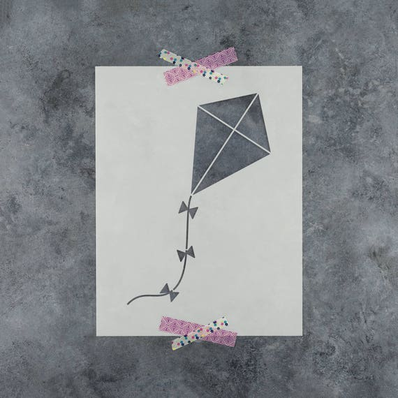 Reusable Stencil with Multiple Sizes Available Kite Stencil Template