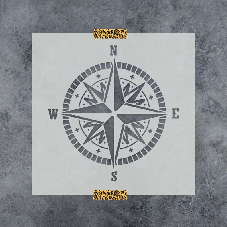 Compass Stencil  Nautical Stencils  Large Compass Stencil image 0