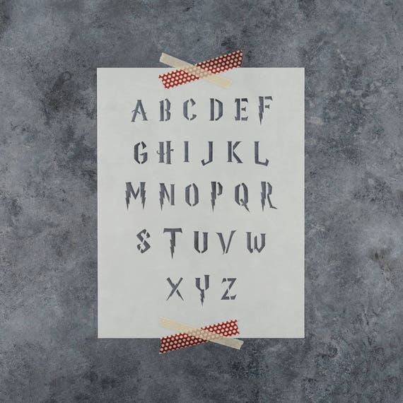Harry Potter Stencil Reusable Letter Template In