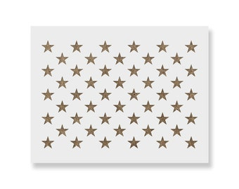 50 Stars Stencil for DIY Wood American Flags - Multiple Sizes & 100% Made in the USA!