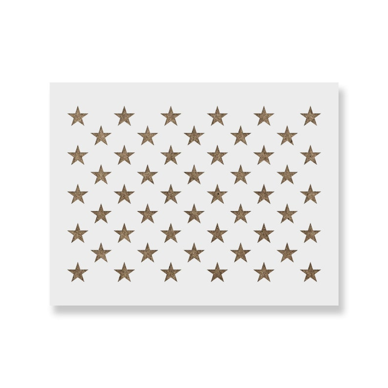 50 Stars Stencil for DIY Wood American Flags  Multiple Sizes image 0