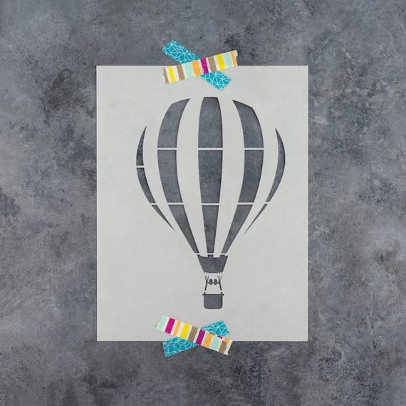 Heißluftballon Schablone Wiederverwendbar Diy Handwerk Schablonen Ein Heißer Luft Ballon