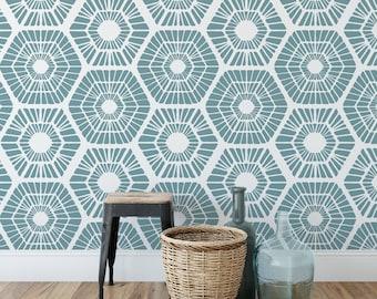 Scandinavian Geometric Pattern Wall Stencil - Transform your Decor - Beautiful Scandinavian Design Stencil for Walls & Floors