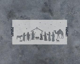 Nativity Stencil - Reusable DIY Craft Christmas Stencils for Wood Signs - Nativity Scene Stencil Template