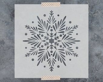 Snowflake Stencil - Reusable DIY Craft Stencils of a Snowflake - Great Christmas Stencils for Holiday Crafting!