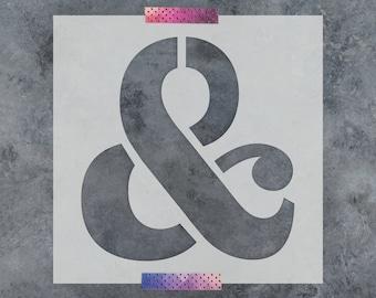 Ampersand Serif Stencil - Reusable DIY Craft Stencils of a Serif Ampersand Symbol