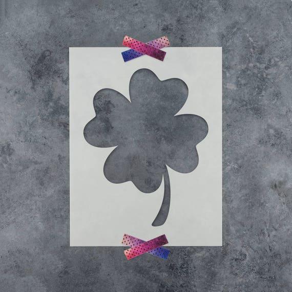 Durable /& Reusable Mylar Stencils Four Leaf Clover Stencil