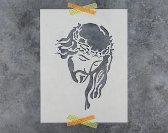 Jesus Stencil - Reusable DIY Craft Stencils of Jesus Christ