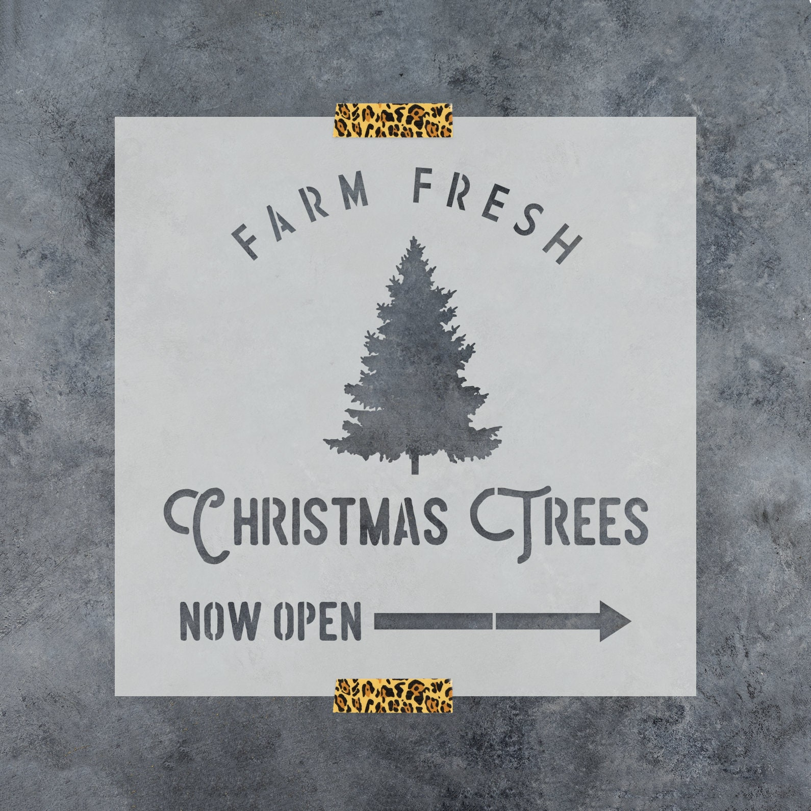 Farm Fresh Christmas Trees Stencil Reusable DIY Craft   Etsy