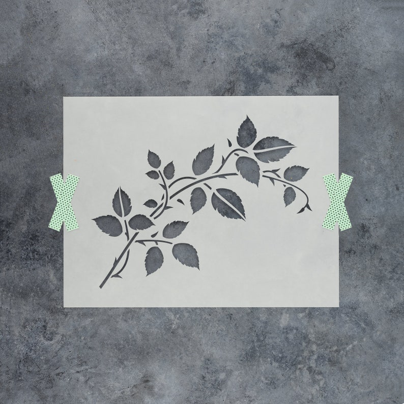 Vine Stencil  Reusable Leaf Stencil for Nature Decor and Wall image 0