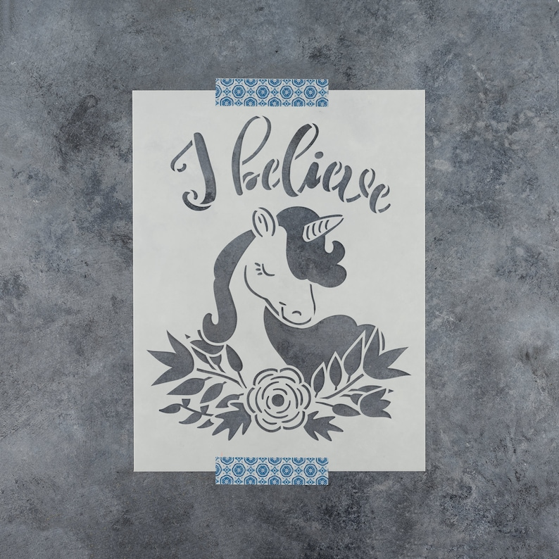"""GORGEOUS /""""I BELIEVE IN UNICORNS/"""" CANVAS PRINTED FABRIC SHEET..HAIR BOWS,."""