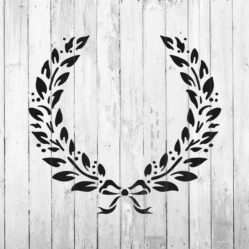 Laurel Wreath Stencil Reusable DIY Craft Stencils of a | Etsy