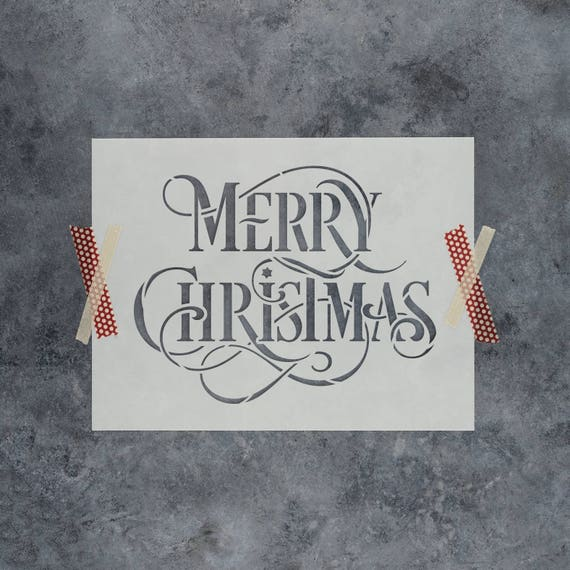 Christmas Stencils For Wood.Merry Christmas Stencil Reusable Diy Stencil Of Merry Christmas For Wood Signs Durable Stencil For Christmas Crafts Shipped Fast