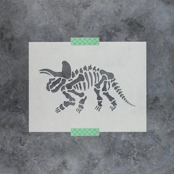 Dinosaurs set Trex Triceratops Stencil MYLAR A4 sheet strong reusable craft Deco