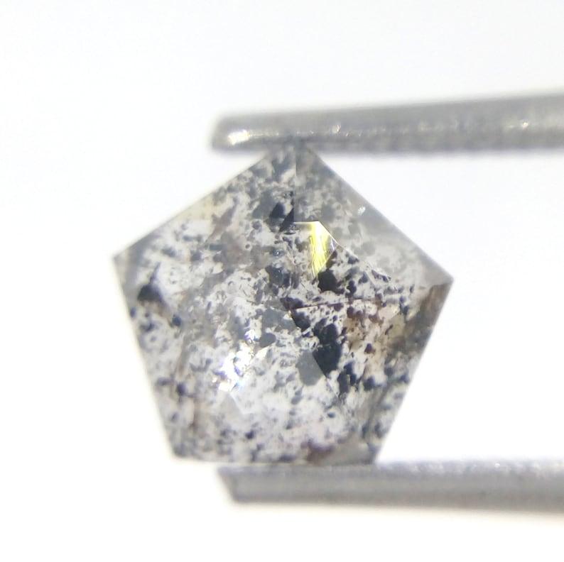0.88 CT Natural Loose Salt And Pepper Pentagon Shape Diamond A591