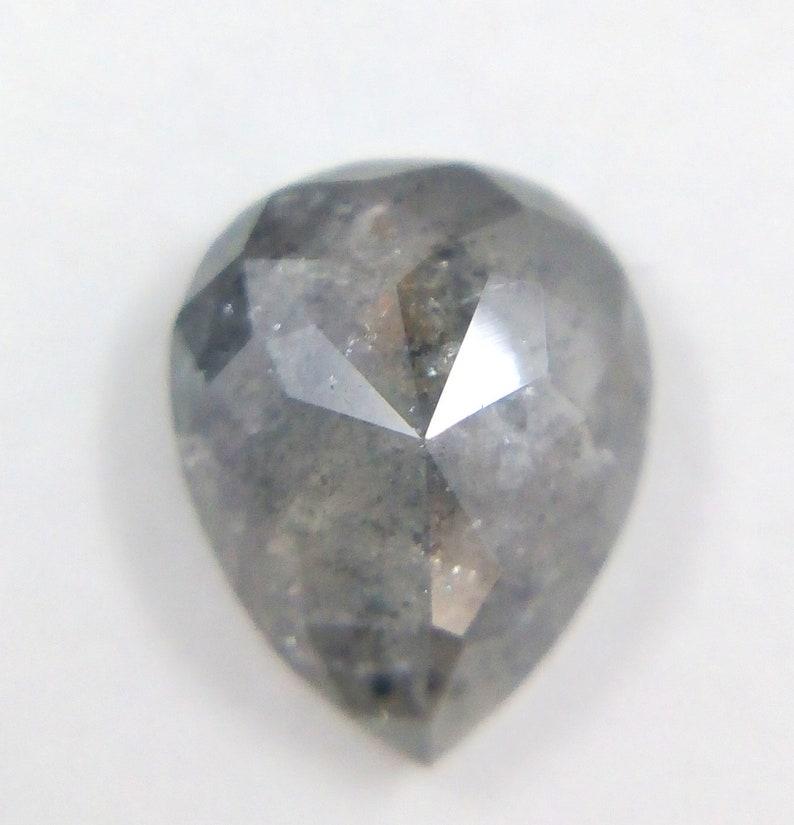 0.76 Ct Natural Loose Salt And Pepper Pear Shape Transparent Diamond A467