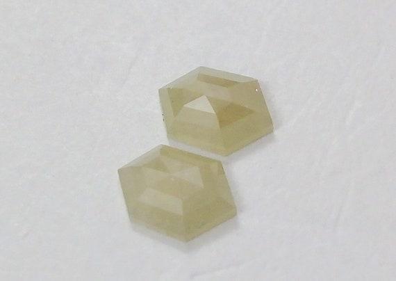 Natural Hexagon Shape Transparent Yellow Color Diamond 0.51 Ct A128