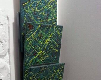 Three abstract canvas combo.
