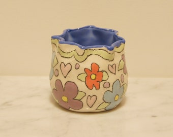 Garden Clay Pot- Green Ribbon Cha-Cha