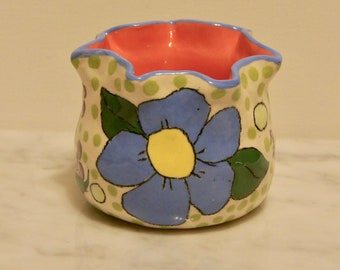 Garden Clay Pot- Flora Azul