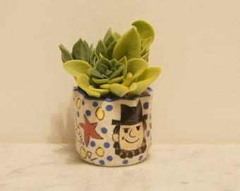 Garden Clay Pot- Founding Fathers
