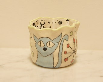 Garden Clay Pot- Chit Chat Kitty Cat