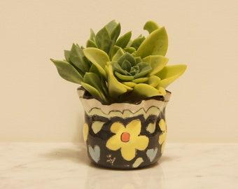 Garden Clay Pot- Cha-Cha-Cha