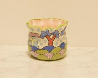 Garden Clay Pot- Lilac Hearts Abode